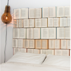 Headboard of books
