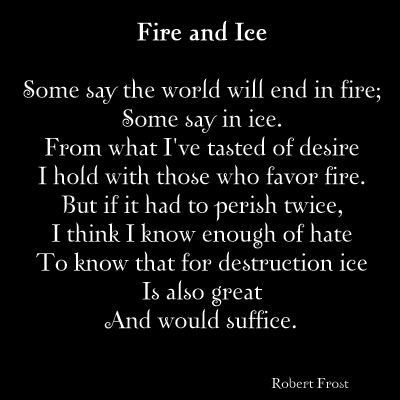 fire and ice poem analysis pdf